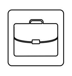 Monochrome contour square with executive suitcase vector