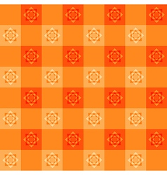 Orange flower chessboard background vector