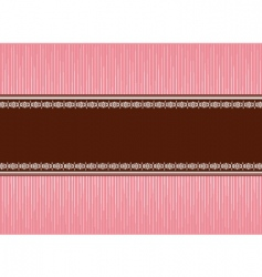 pink brown vector image