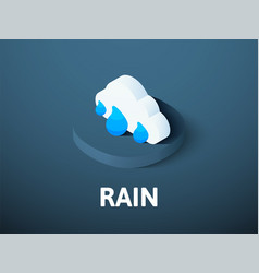 Rain isometric icon isolated on color background vector
