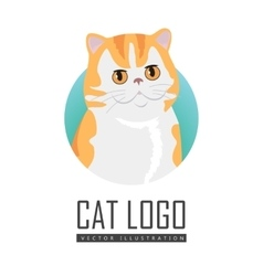 Red exotic cat flat design vector
