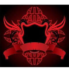 Red heraldry design vector
