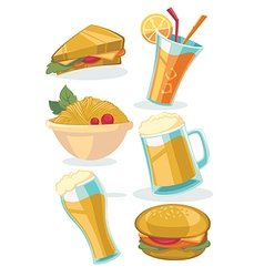 snack collection vector image vector image