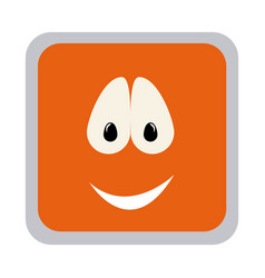 Square colorful shape emoticon smile expression vector