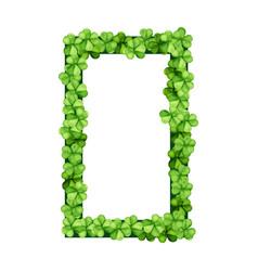 Square frame clover vector