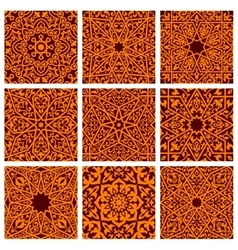 Arabic seamless ornamental pattern backgrounds vector