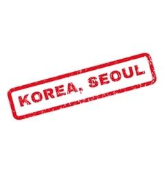 Korea seoul rubber stamp vector