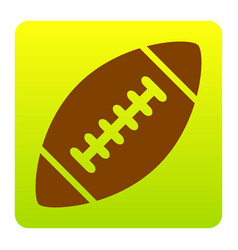 American simple football ball  brown icon vector