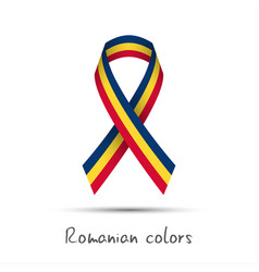 Modern colored ribbon with the romanian tricolor vector