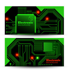 Electric board banners set vector