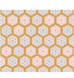seamless japanese flower pattern vector image