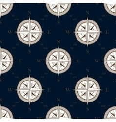 Vintage compass seamless pattern background vector