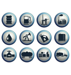 Oil and petrol industry objects icons vector
