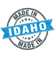 Made in idaho blue round vintage stamp vector