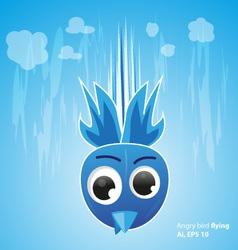 Angry bird fly on the sky vector