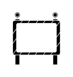 Barricade safety maintenance work pictogram vector