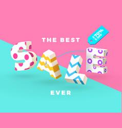 best sale 3d sign vector image