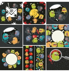 Big set of with cute monsters vector image vector image