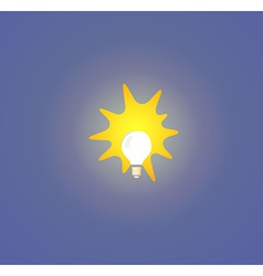 Bulb light on blue background vector image vector image