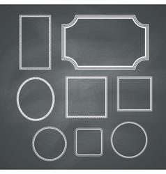Chalkboard frames vector