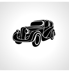 Classic car silhouette retro vintage hot vector