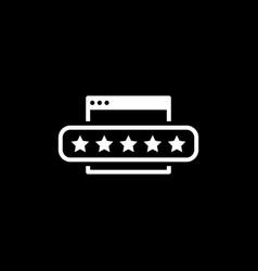 customer feedback icon vector image