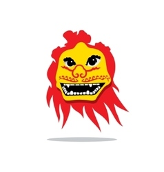 Dragon China Mask Cartoon vector image