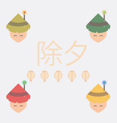 East man collection of chinese vector