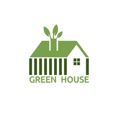 green house for real estate business design vector image vector image