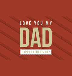 Happy father day style card collection vector
