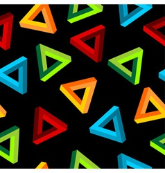 impossible triangle pattern vector image vector image