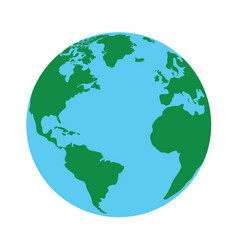 isolated globe vector image