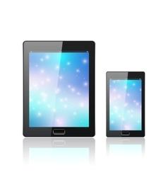 Modern digital tablet pc medical design vector