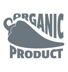 organic bio product logo simple style vector image vector image