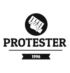 Protester leaflet logo simple black style vector