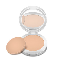 Realistic detailed cosmetic product face powder vector