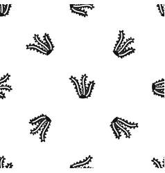 Seaweed pattern seamless black vector