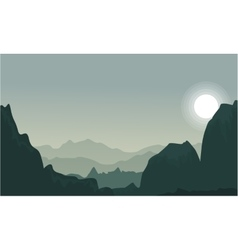Silhouette of cliff and desert landscape vector image