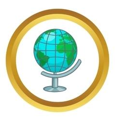 Terrestrial globe icon vector
