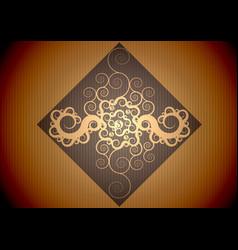 Vintage brown pattern vector