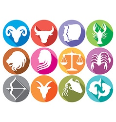 Zodiac icon set vector image