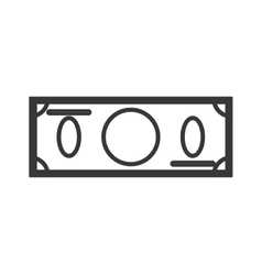 blank dollar bill icon vector image