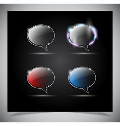 glass glowing transparent icon vector image