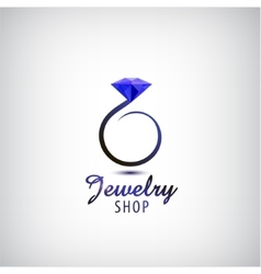 Jewelry logo design template circle ring vector