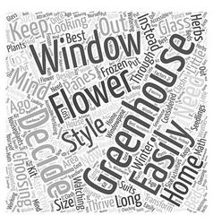 greenhouse window Word Cloud Concept vector image