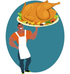 Holiday turkey vector
