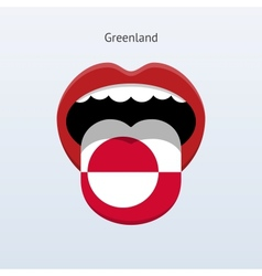 Greenland language abstract human tongue vector