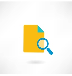 paper under a magnifying glass icon vector image