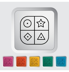 Sorter educational toy vector