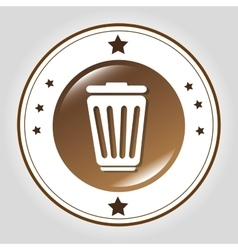 Delete or trash line icon vector